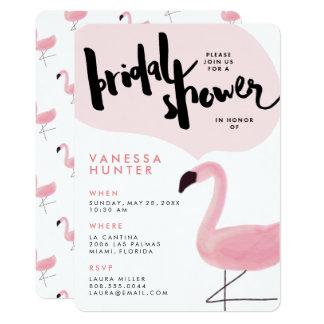 Invitation nuptiale de douche de flamant rose