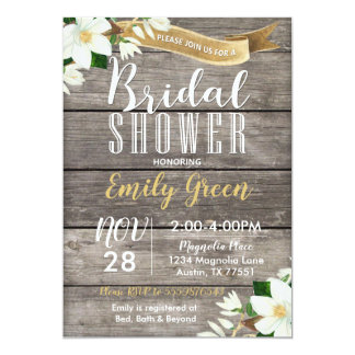 Invitation nuptiale de douche de fleur de magnolia