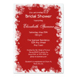 Invitation nuptiale de douche de flocons de neige carton d'invitation  12,7 cm x 17,78 cm