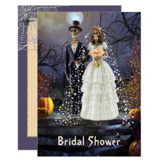 Invitation nuptiale de douche de Halloween avec