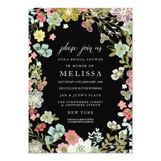 Invitation nuptiale de douche de jardin floral de