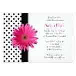 Invitation nuptiale de douche de marguerite de carton d'invitation  12,7 cm x 17,78 cm