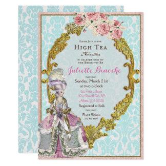 Invitation nuptiale de douche de Marie Antoinette