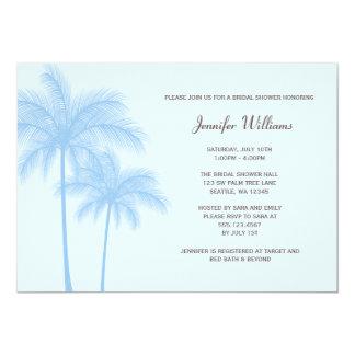 Invitation nuptiale de douche de palmier bleu