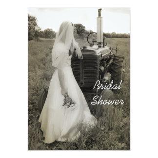 Invitation nuptiale de douche de pays de jeune