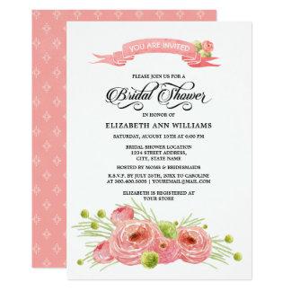 Invitation nuptiale de douche de peinture florale