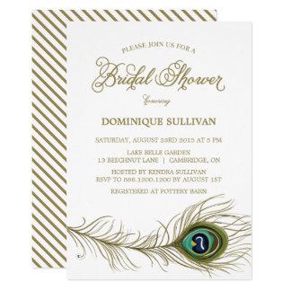 Invitation nuptiale de douche de plume lunatique
