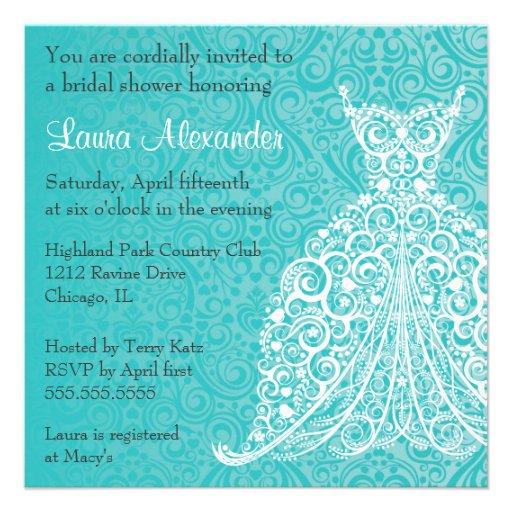 invitation nuptiale de douche de robe de mariage carton d