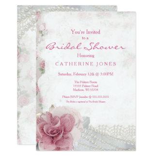 Invitation nuptiale de douche de rose chic