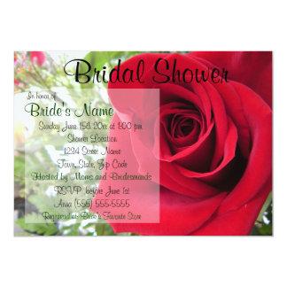 Invitation nuptiale de douche de rose rouge