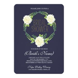Invitation nuptiale de douche de roses d'aquarelle