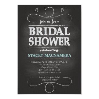 Invitation nuptiale de douche de tableau