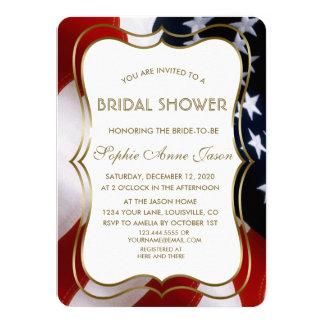 Invitation nuptiale de douche des Etats-Unis d'or