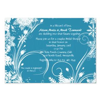 Invitation nuptiale de douche d'hiver