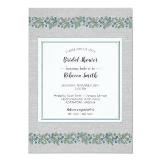 Invitation nuptiale de douche d'hiver de verdure