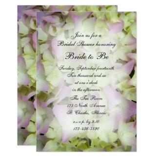 Invitation nuptiale de douche d'hortensia presque