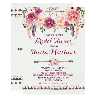 Invitation nuptiale de douche d'invitation florale