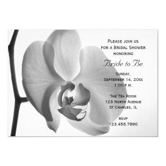 Invitation nuptiale de douche d'orchidée blanche