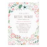 Invitation nuptiale de douche du jardin d'agrément