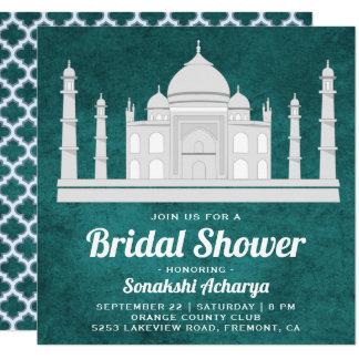 Invitation nuptiale de douche du Taj Mahal