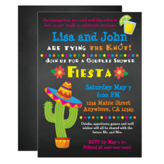 Invitation nuptiale de fiesta de douche de couples