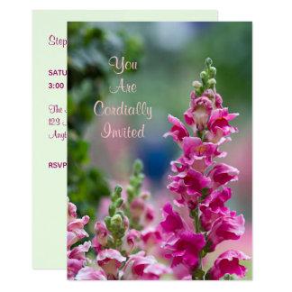 Invitation nuptiale de floraison de douche de