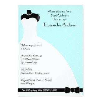 Invitation nuptiale élégante bleue de douche