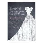 Invitation nuptiale marquée à la craie de douche