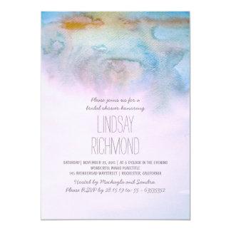 invitation nuptiale moderne de douche d'aquarelle carton d'invitation  12,7 cm x 17,78 cm