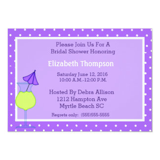 Invitation nuptiale moderne de douche carton d'invitation  12,7 cm x 17,78 cm
