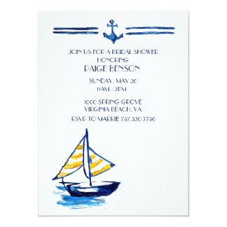 Invitation nuptiale nautique de douche