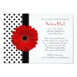 Invitation nuptiale noire et blanche de douche de carton d'invitation  12,7 cm x 17,78 cm