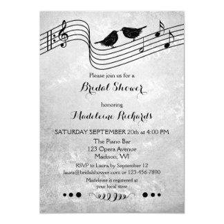 Invitation nuptiale orienté de douche de musique