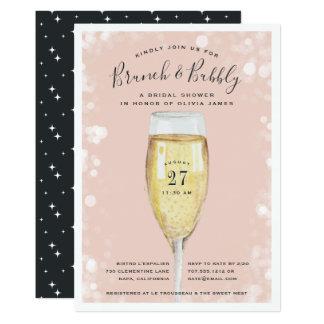 Invitation nuptiale pétillante de brunch de douche