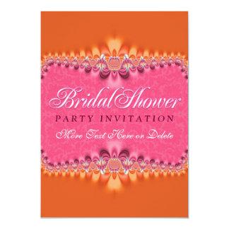 Invitation nuptiale rose Romance Girly de partie