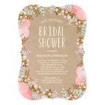 Invitation nuptiale rustique de douche des fleurs
