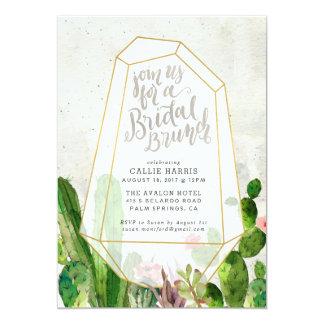 Invitation nuptiale succulente de brunch de désert