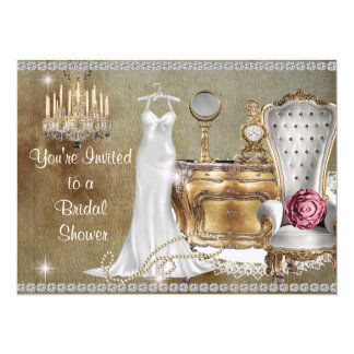 INVITATION NUPTIALE VINTAGE CHIC MINABLE BLING DE
