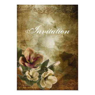 Invitation nuptiale vintage de douche de magnolia