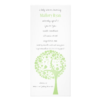 Invitation olive de baby shower d arbre fleurissan