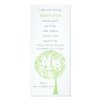 Invitation olive de baby shower d'arbre