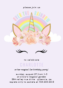 Invitations Faire Part Licorne Zazzle Fr