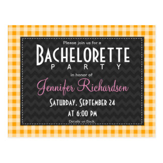 Invitation orange ambre de partie de bachelorette