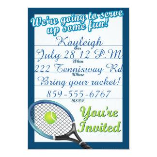 Invitation orienté de tennis fait sur commande