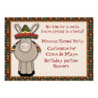 Invitation orientée d'âne mexicain