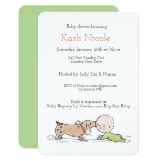 Invitation orientée de baby shower de chiot