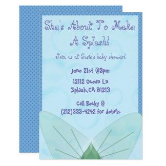 Invitation orientée de baby shower de sirène