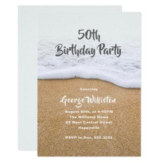 Invitation orientée de fête d'anniversaire de