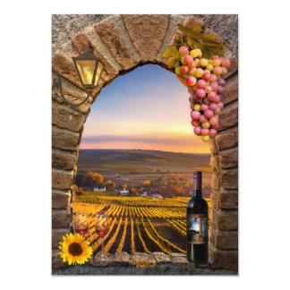 Invitation orientée de fête d'anniversaire de vin