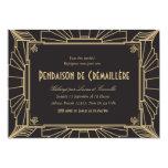Invitation orientée de partie de pendaison de 1920 carton d'invitation  12,7 cm x 17,78 cm